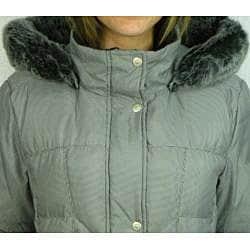 Utex Women's Checkered Hooded Down-blend Coat