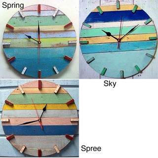 Recycled Boat Wood Beach House Clock (Thailand)
