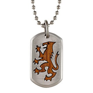 Fine Grade Pewter Bico Lion Heart Necklace
