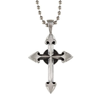 Bico Australia Fine Grade Pewter Templar Cross Pendant Necklace