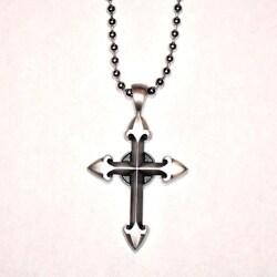 Bico Australia Fine Grade Pewter Ethereal Cross Pendant Necklace