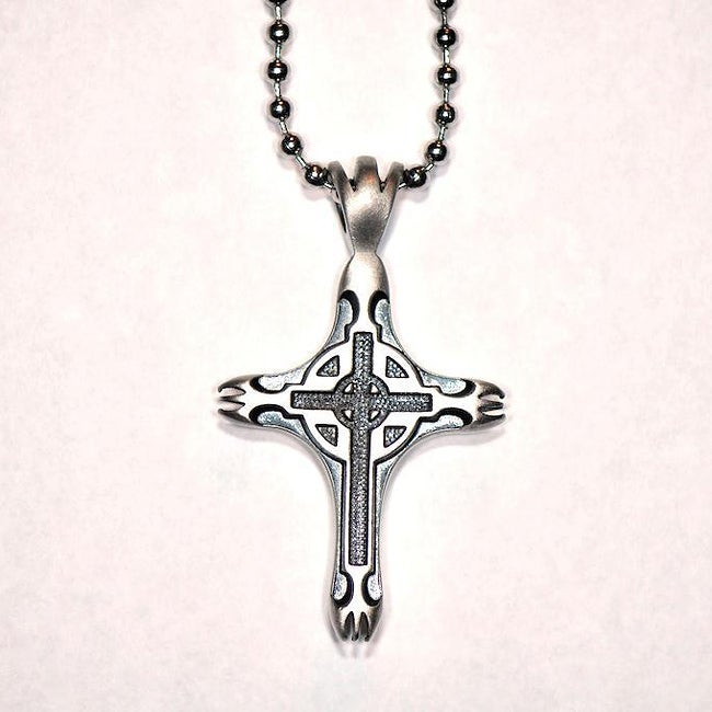 Bico australia fine grade pewter sacred cross pendant for Bico australia jewelry pendants