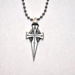 Bico Australia Fine Grade Pewter Amis Cross Pendant Necklace