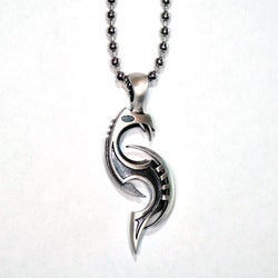 Fine Grade Pewter Wyvre Pendant Necklace