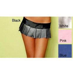 Emaje Metallic 6.5-inch Polka Dot Mini Skirt