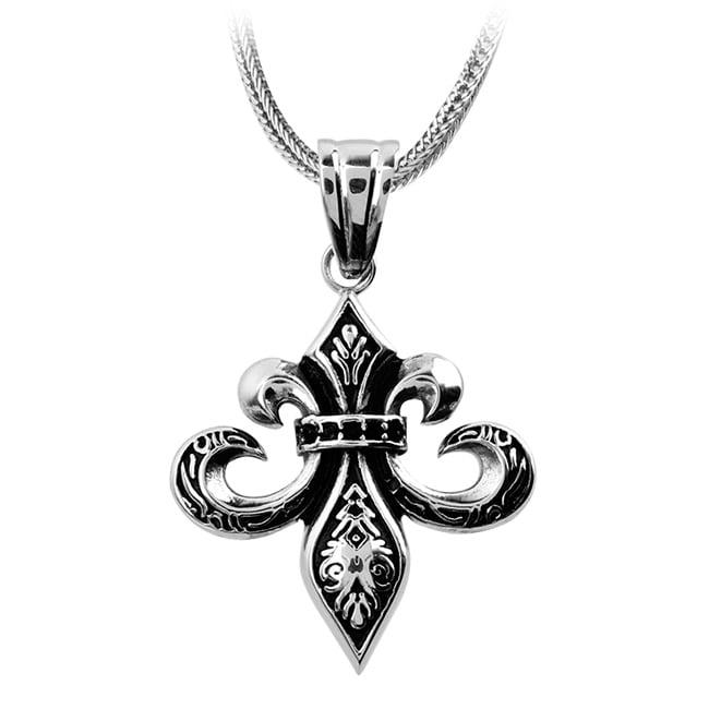 Inox Stainless Steel Fleur De Lis Necklace