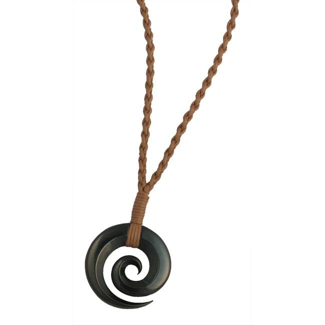 Bico Australia Pewter Oritamae Hand-woven Cord Surf Necklace