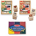 Melissa & Doug Baby Zoo and Farm Animals 6 Color Stamp Pad Set