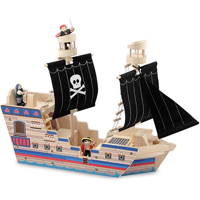 Melissa & Doug Deluxe Pirate Ship Play Set
