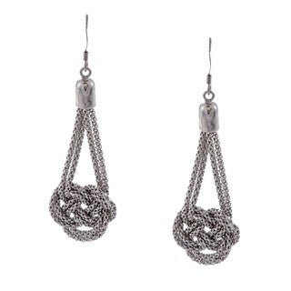 La Preciosa Sterling Silver Double-strand Knotted Earrings