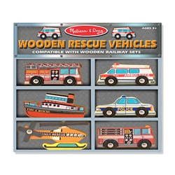 Melissa & Doug Wooden Rescue Vehicle Toys