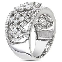 Miadora Sterling Silver White Cubic Zirconia Fashion Ring (4ct TGW)
