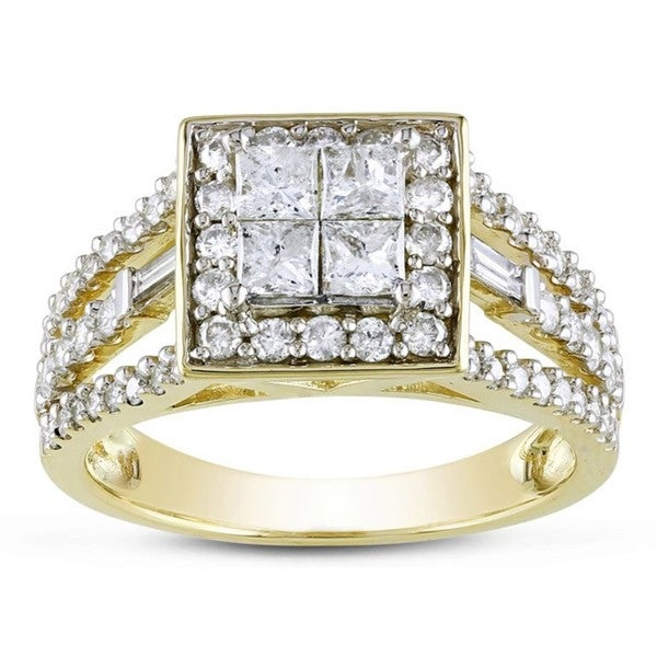 Miadora 14k Yellow Gold 1 1/2ct TDW Diamond Ring (G-H, I2-I3)