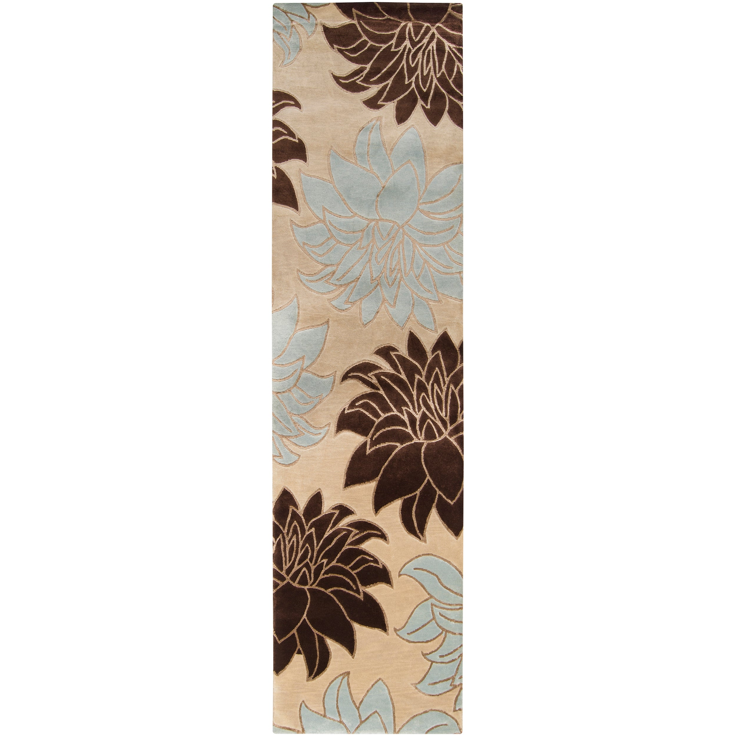 Hand-knotted Loftus Semi-worsted New Zealand Wool Rug (2'6 x 10')