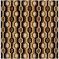 Hand-tufted Brown/Black Contemporary Letchworth Wool Geometric Rug (9'9 x 9'9)