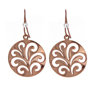 NEXTE Jewelry Chocolate Color Round Filigree Dangle Earrings