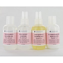 Luxuriant Secret Luv Bath and Body Set (4-Pieces)