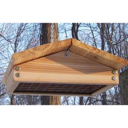 Stovall Up Side Down Wood Suet Feeder