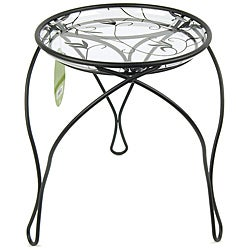 "'The Elegance' Plant Stand, Black (13"" Inches)"