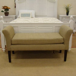 Decorative Brown Cream Geometric Dot Bench