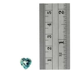 Glitzy Rocks 10x10 Blue 3ct TGW Topaz Heart Stone