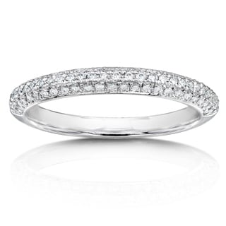 Annello 14k White Gold 1/3ct TDW Diamond Wedding Band (H-I, I1-I2)