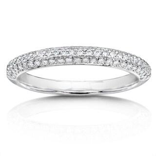 Annello 14k White Gold 1/3ct TDW Diamond Wedding Band (H-I, I1-I2)