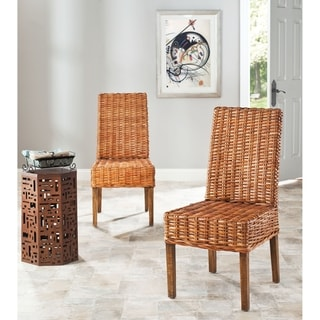 Safavieh St. Thomas Indoor Wicker Honey Side Chairs (Set of 2)