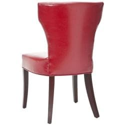 Safavieh Matty Red Bicast Leather Side Chairs (Set of 2)