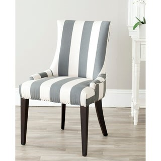 Becca Grey and Beige Polyester-linen Blend and Wood Dining Chair