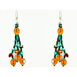 Luzy Turquoise Mocha Earrings (Guatemala)