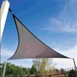"Gale Pacific 433499 Coolaroo 11'10"" Triangle Shade Sail - Ocean Blue"