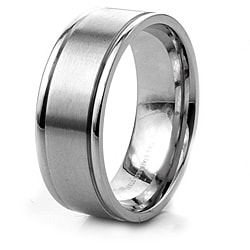West Coast Jewelry Stainless Steel Men's Brushed Center and Polished Edge Ring
