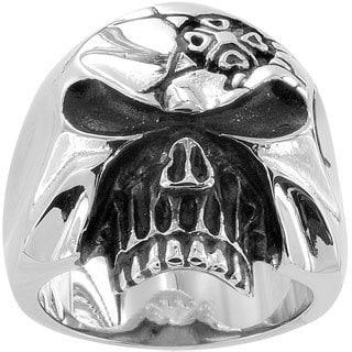 Stainless Steel Men's Skull Ring