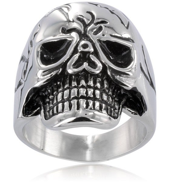 Stainless Steel Men's Large Skull Ring