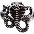 West Coast Jewelry Stainless Steel Men's Snake Ring