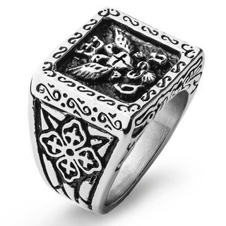 Stainless Steel Royal Empire Shield Ring