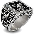 West Coast Jewelry Stainless Steel Royal Empire Shield Ring
