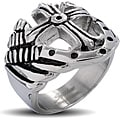 Stainless Steel Men's Royal Cross Shield Ring