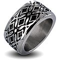 West Coast Jewelry Stainless Steel Men's Wide Decorative Cross Ring