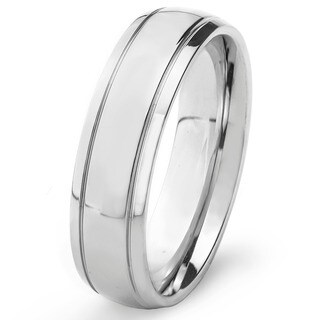 Stainless Steel Men's High Polish Wedding Band