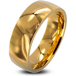 West Coast Jewelry Stainless Steel Men's Goldplated Wedding Band (8mm)