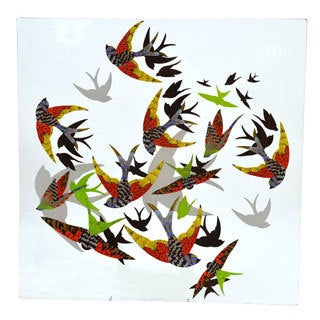 Birds in Flight Tempered Glass Platter