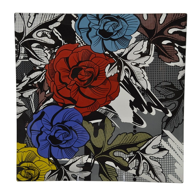 Graphic Love Tempered Glass Platter