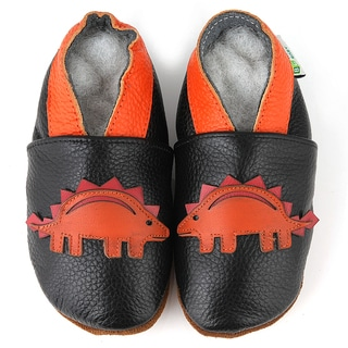 Stegosaurus Soft Sole Leather Baby Shoes