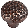 Small Round Antique Copper Cabinet Knob (Set of 6)