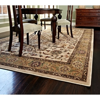 "Dorchester Beige/ Green Powerloomed Rug (5'2"" x 7'7"")"
