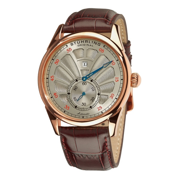 Stuhrling Original Men's Gray-Dial Patriarch Automatic Watch