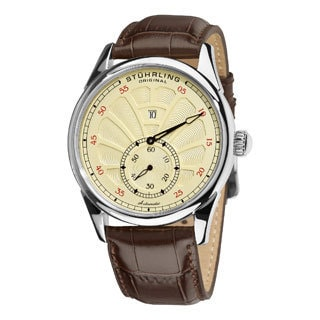 Stuhrling Original Men's Vanilla-Dial Patriarch Automatic Watch
