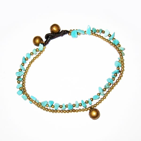 Goldtone Turquoise Anklet (Thailand)